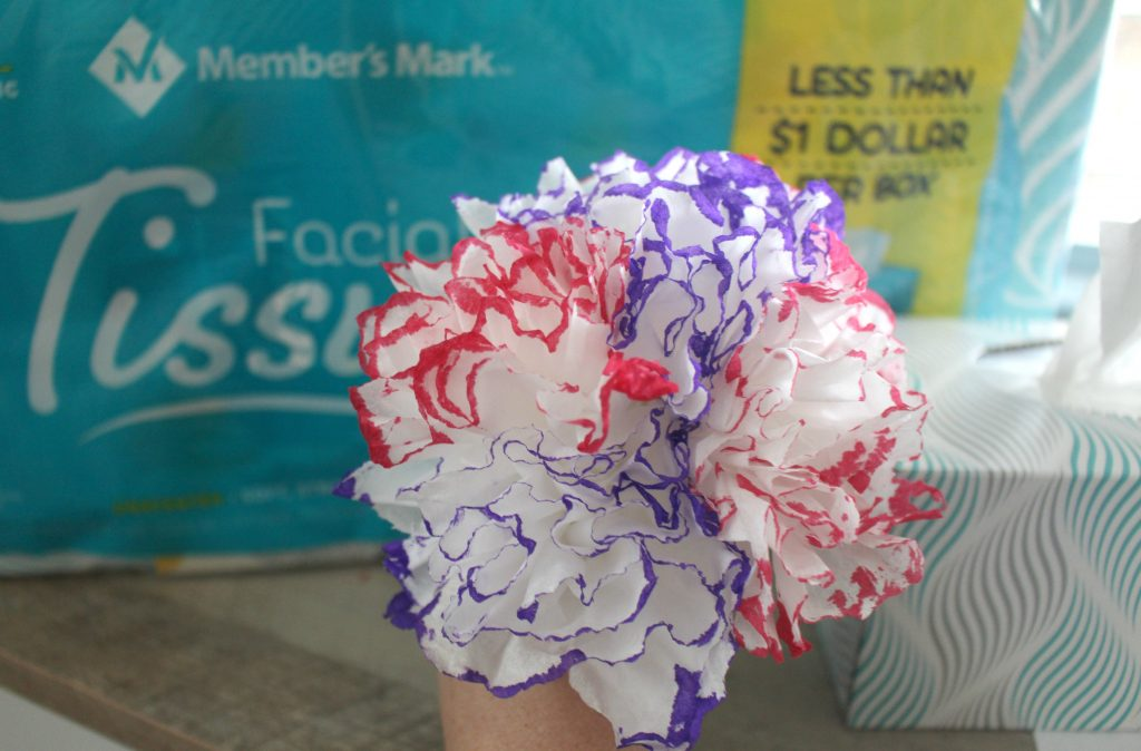 How to make tissue flowers bouquet