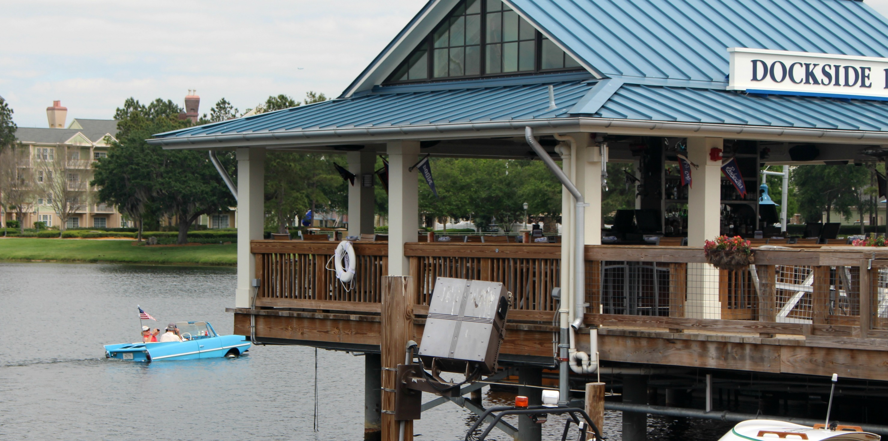 Take a Car Boat ride at Disney Springs