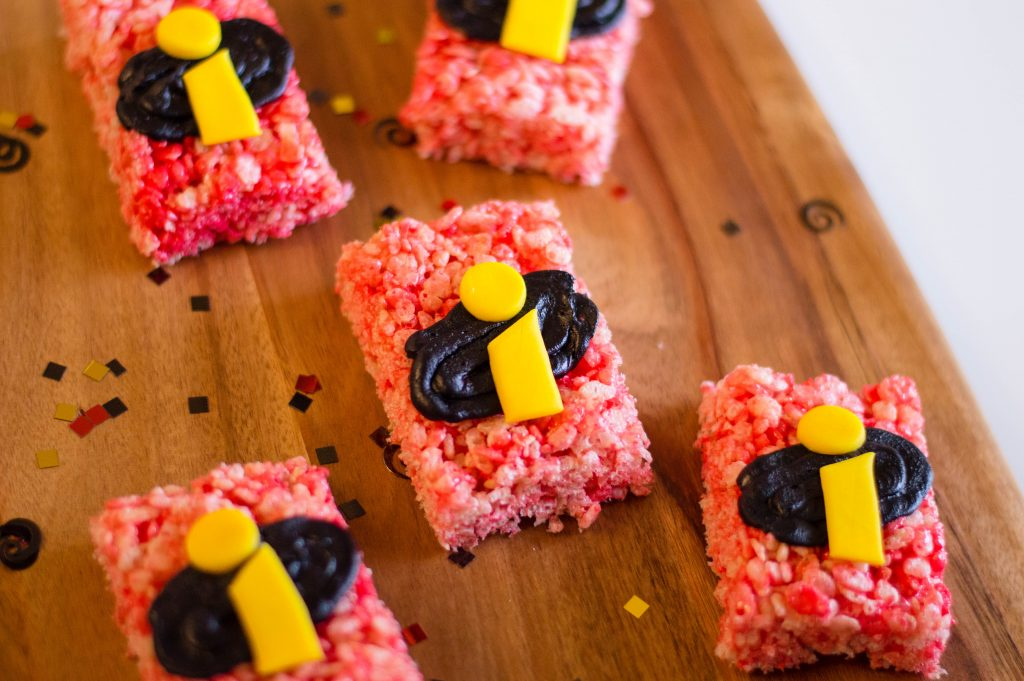 Easy DIY Incredibles 2 Rice Krispies Treats Recipe
