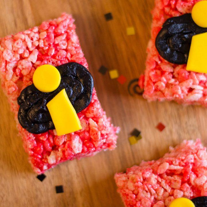 DIY Incredibles 2 Rice Krispies Treats Snack Recipe
