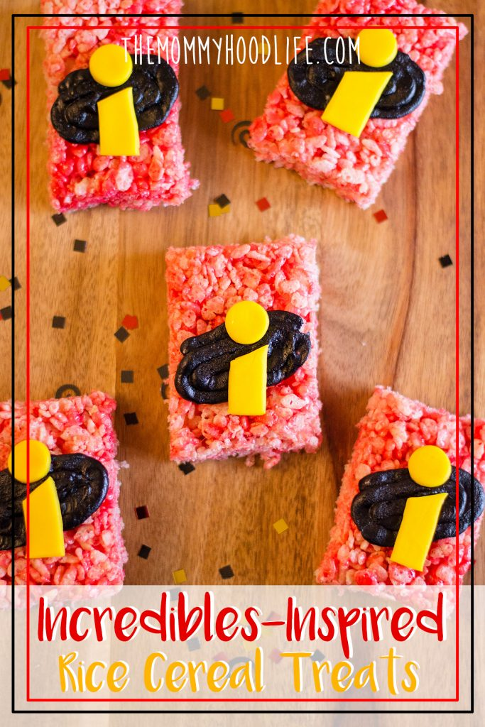 DIY Incredibles 2 Rice Krispies Treat snacks