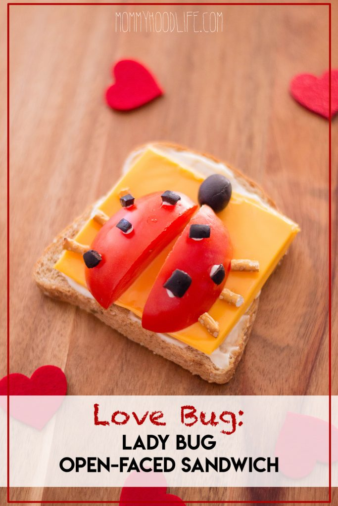 Lady Bug Open-faced Sandwich