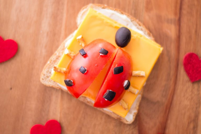 Easy and Fun Ladybug Open-Faced Sandwich Lunch Recipe