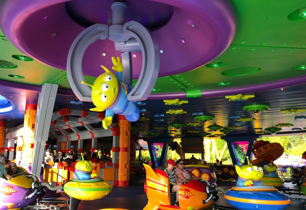 Alien Swirl at Toy Story Rides