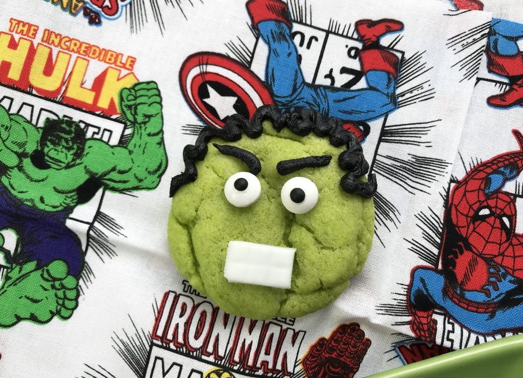 Incredible Hulk Cookies Party Theme SuperHeros