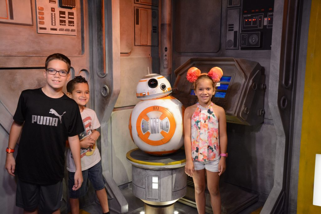 Meet BB8 star wars characters at Disney