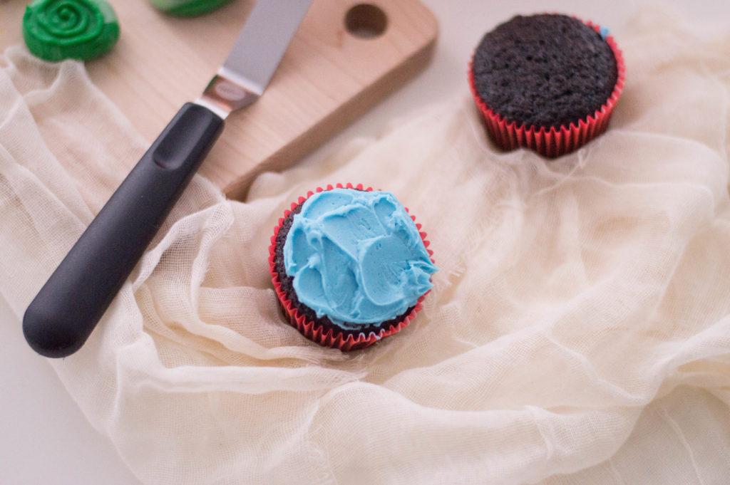 Moana Cupcakes recipe Heart of Te Fiti