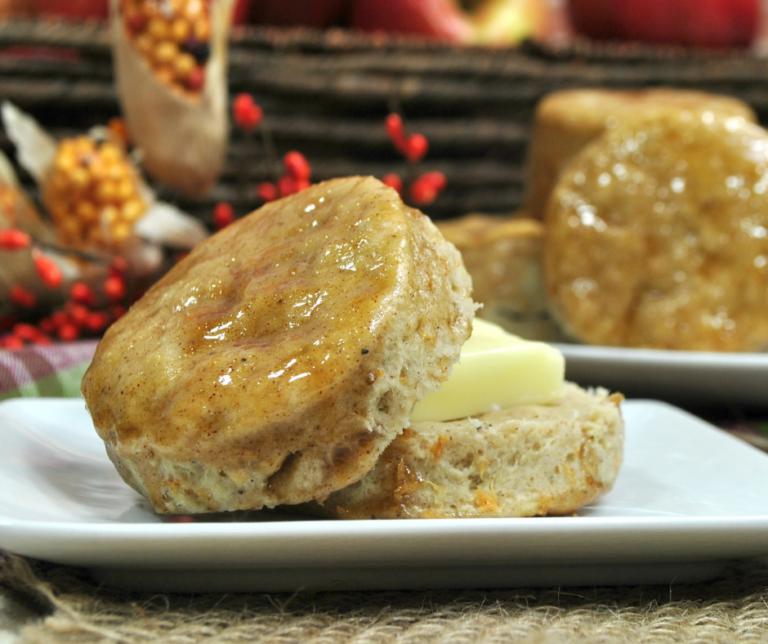 Glazed Cinnamon Apple Biscuits