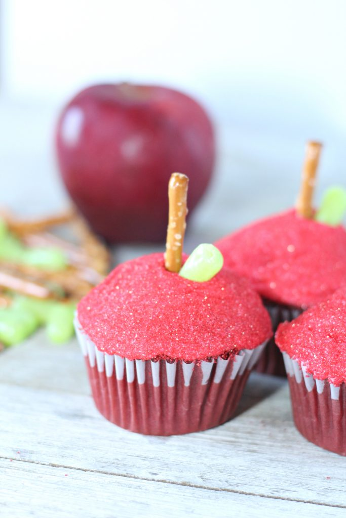 Red Velvet Apple Cupcakes Easy Recipe