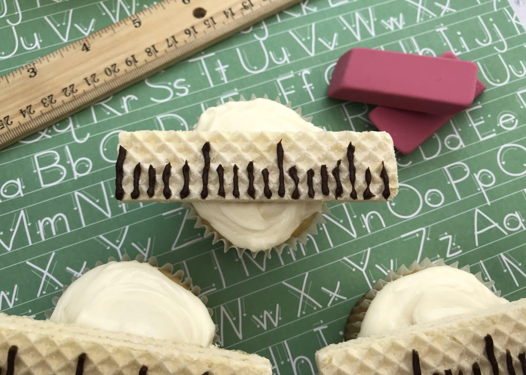 Ruler Cupcakes Recipe for Back to School