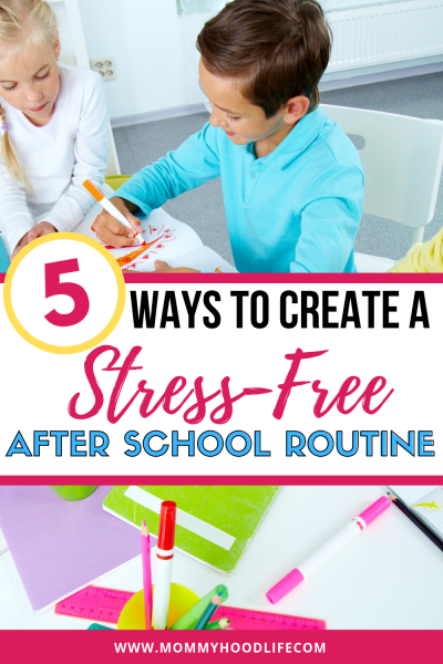 Creating an after school routine