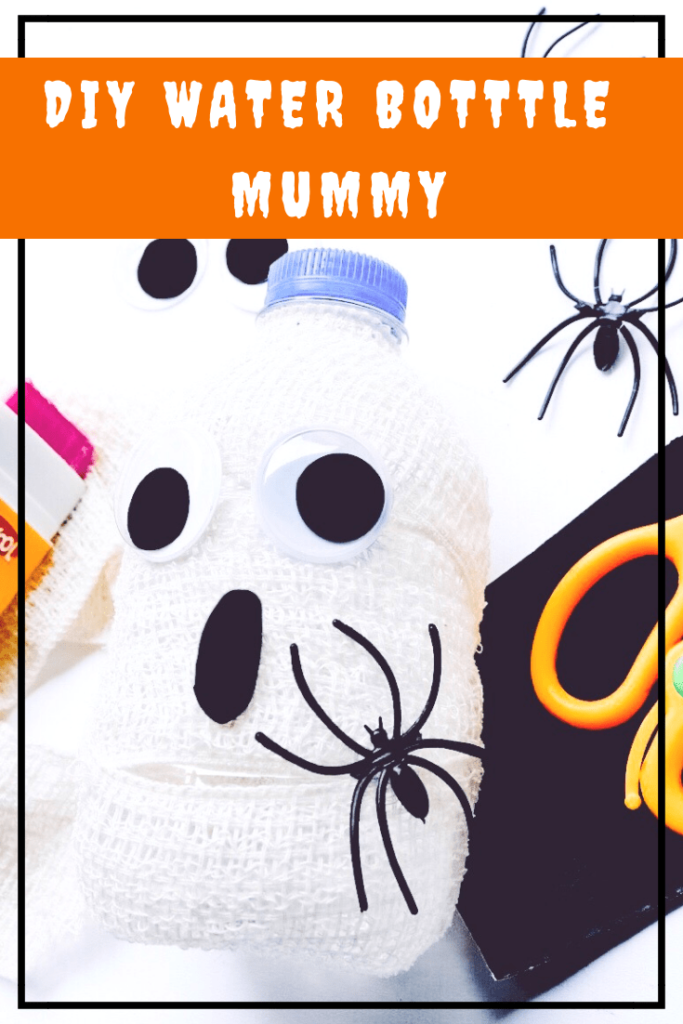 DIY Water Bottle Mummy Halloween Crafts