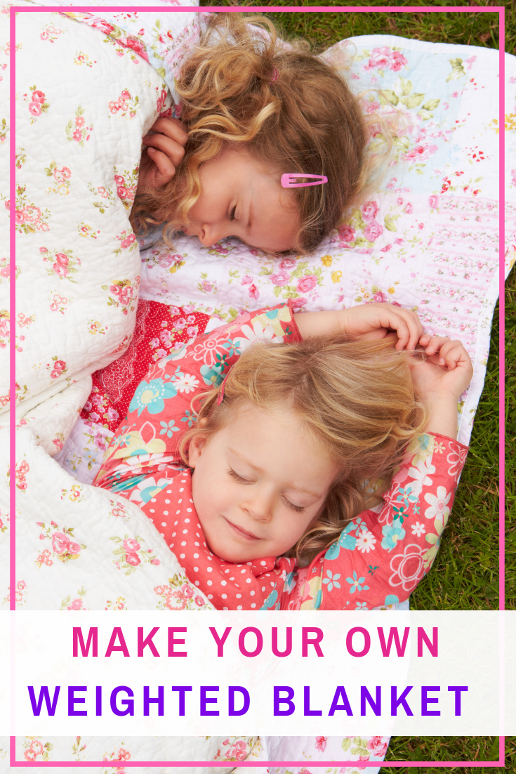 How To Make Your Own Easy Weighted Blanket Diy