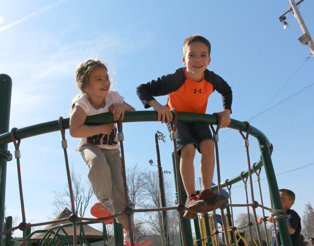 Children at inclusive playground