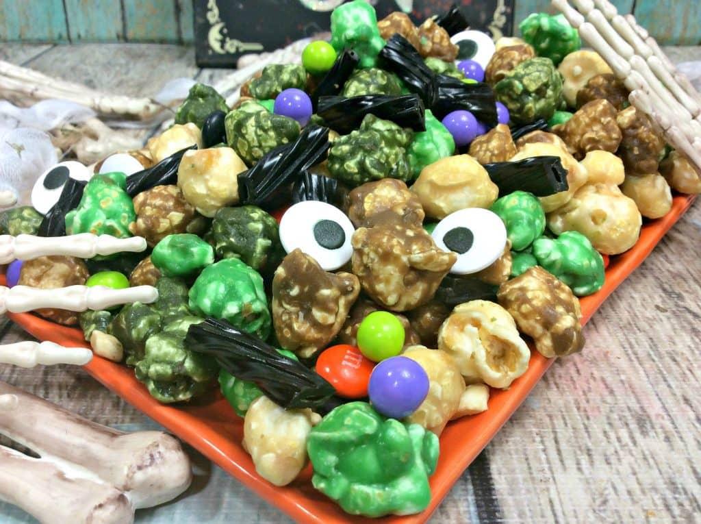 Zombie Halloween Popcorn candy Mix