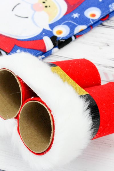 Easy Christmas Craft Idea Santa's Binoculars