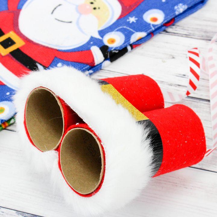 Santa Binoculars Christmas Craft