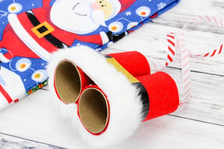 Easy Christmas Craft Idea for Kids Santa's Binoculars