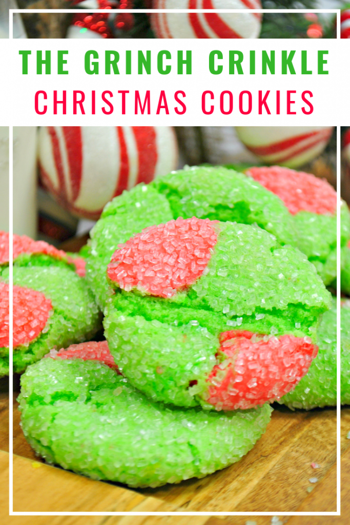 Grinch Crinkle Christmas Cookie