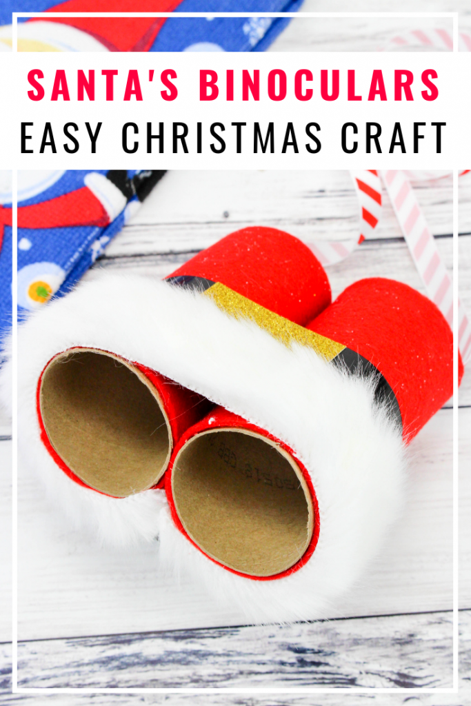 Easy Christmas Craft Binoculars