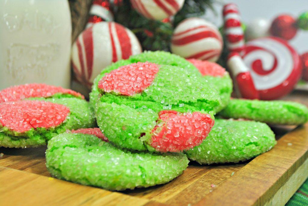 Crinkle Christmas Cookies