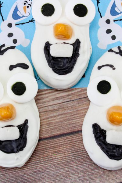 Olaf Themed Snowman Nutter Butter Cookies Recipe