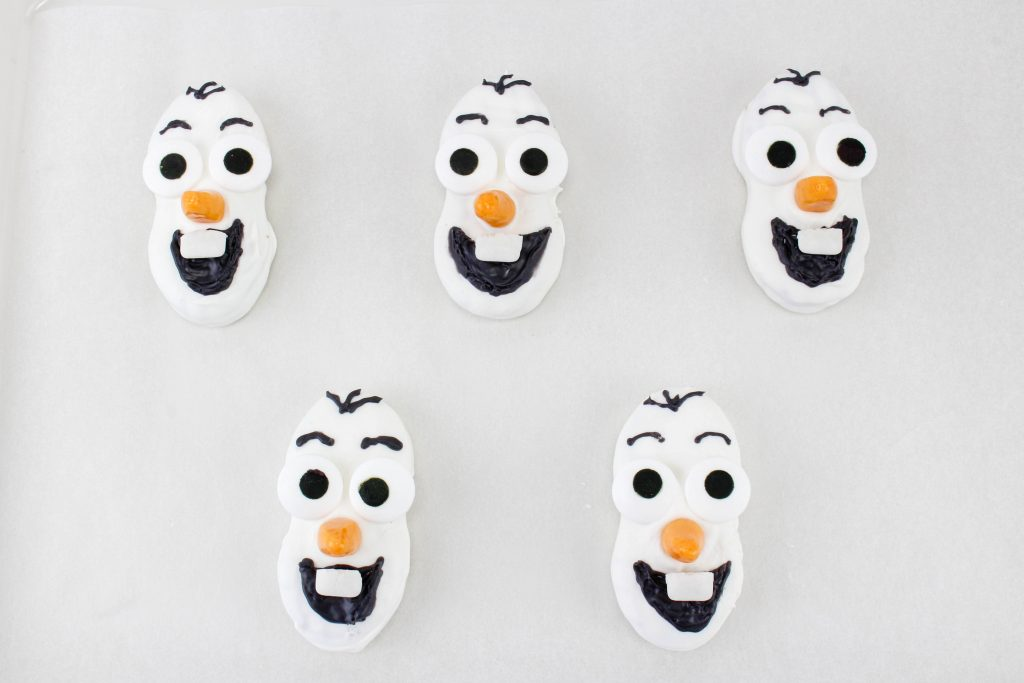 Finished Olaf Cookies