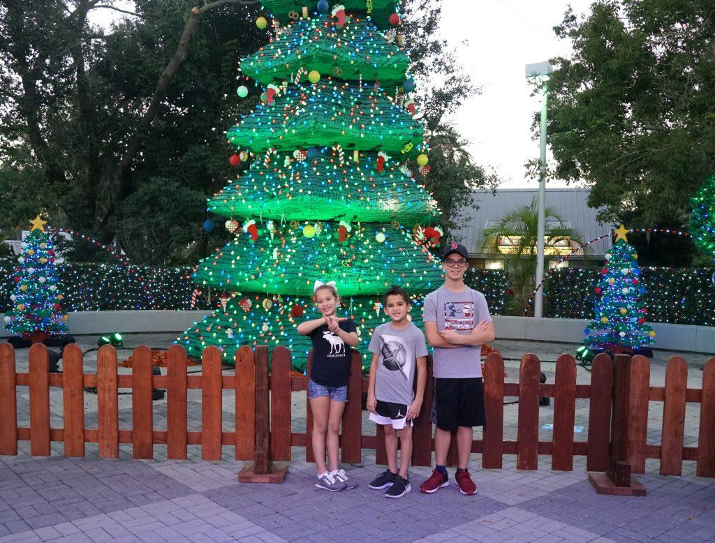 Legoland Florida Christmas Tree Light Show