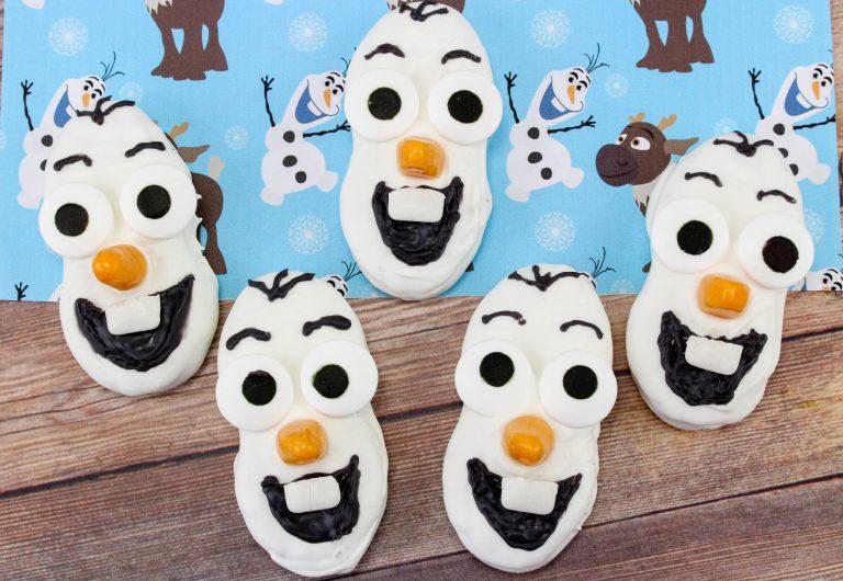 Frozen Themed Olaf Nutter Butter Cookies Recipe