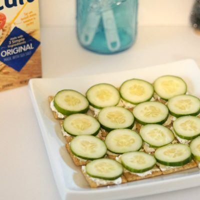 Triscuit Sandwiches Cucumber and italian