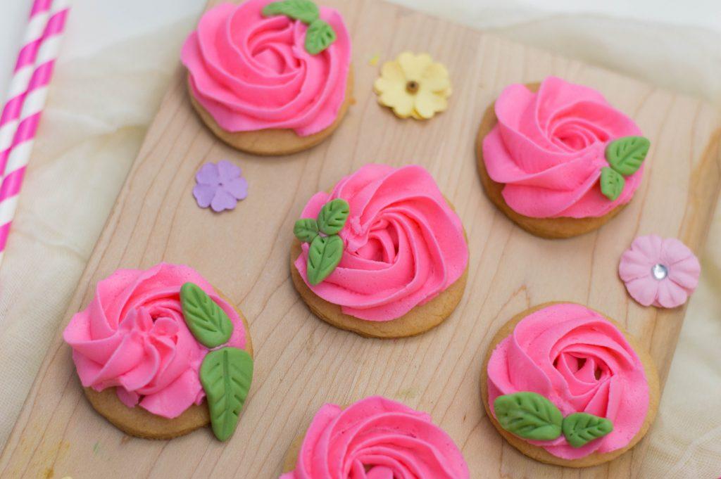 Flower Sugar Cookies decorated