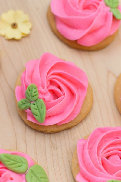 Pink Flower Sugar Cookies