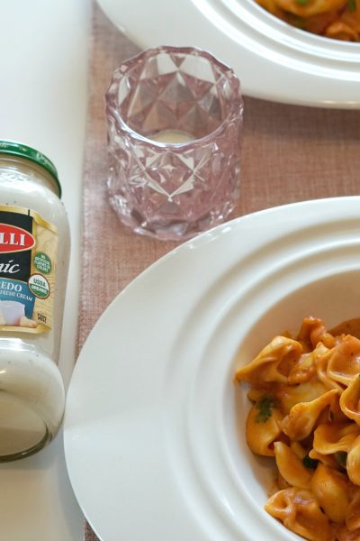 Creamy Tortellini with Rosa Sauce Recipe for Valentine's Day Dinner