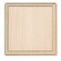 Darice 9179-58 Wooden Square Plaque, 4-Inch