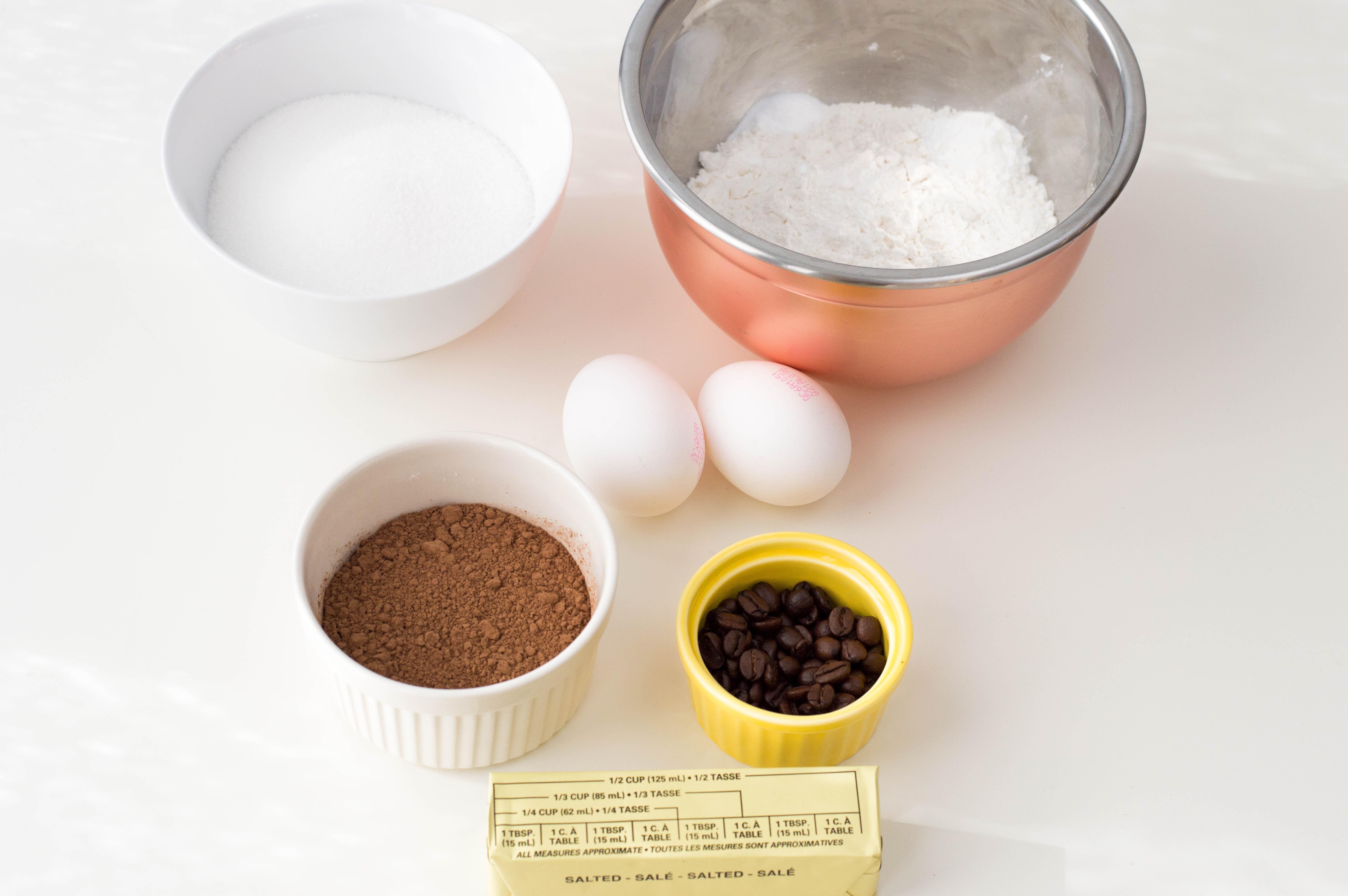 Mocha Cupcakes Ingredients
