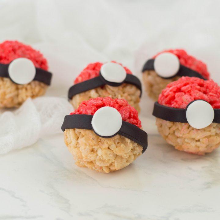 Pokeball Pokemon Rice Cereal Treats