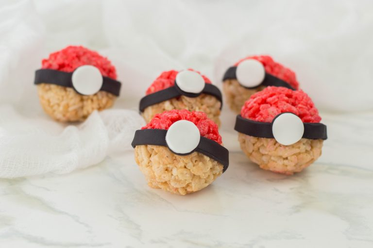 Pokemon Themed Pokeball Rice Krispie Treats Recipe