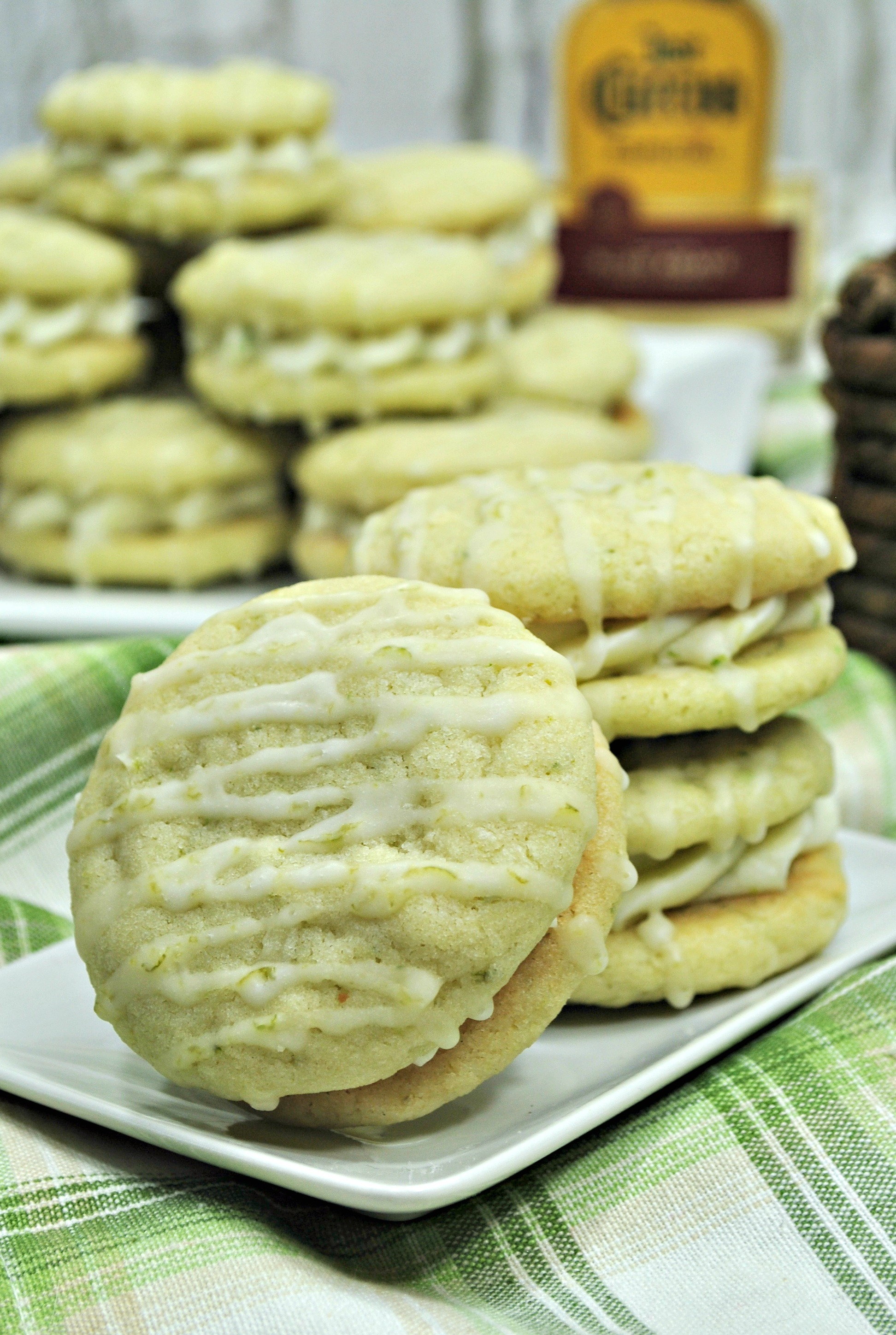 Tequila and Lime Margarita Cookies on Table