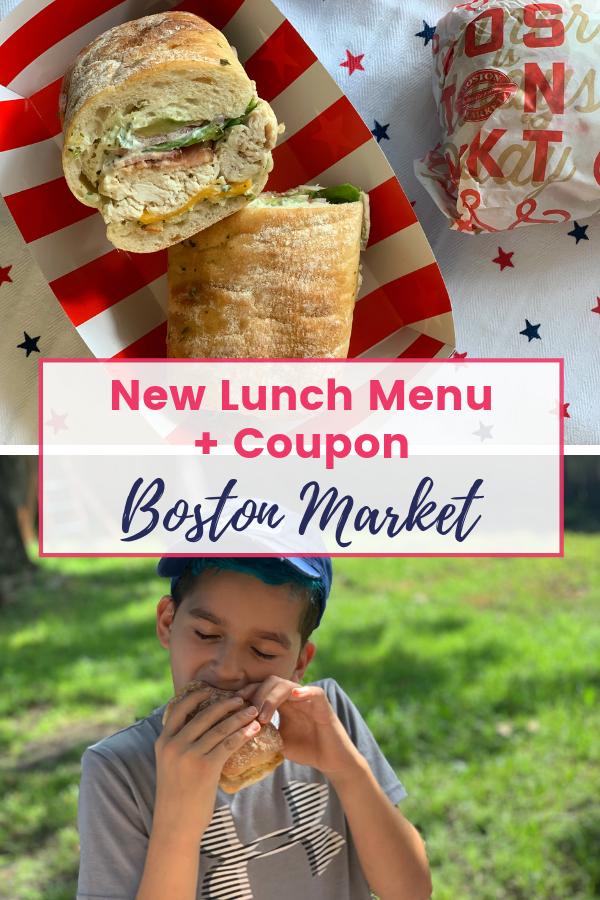 Boston Market Lunch Menu