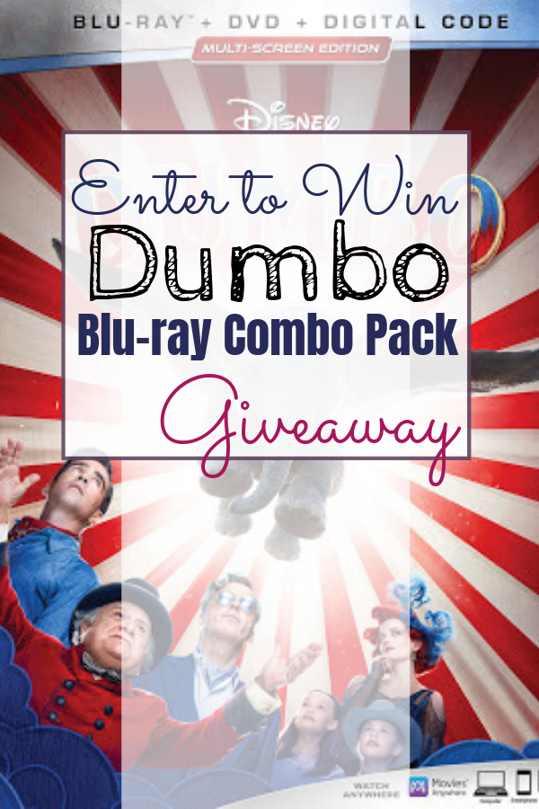 Dumbo Giveaway Enter to win a Blue-Ray Combo Pack