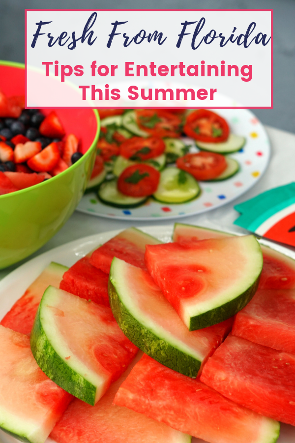 Entertaining tips for summer in Florida