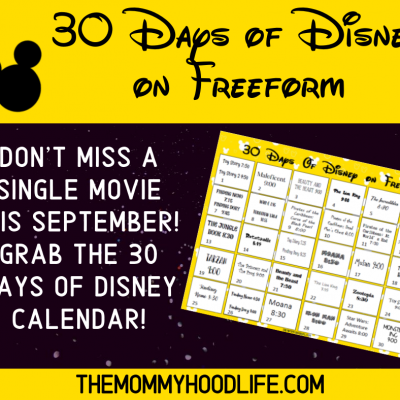 Freeform 30 Days of Disney Printable Schedule
