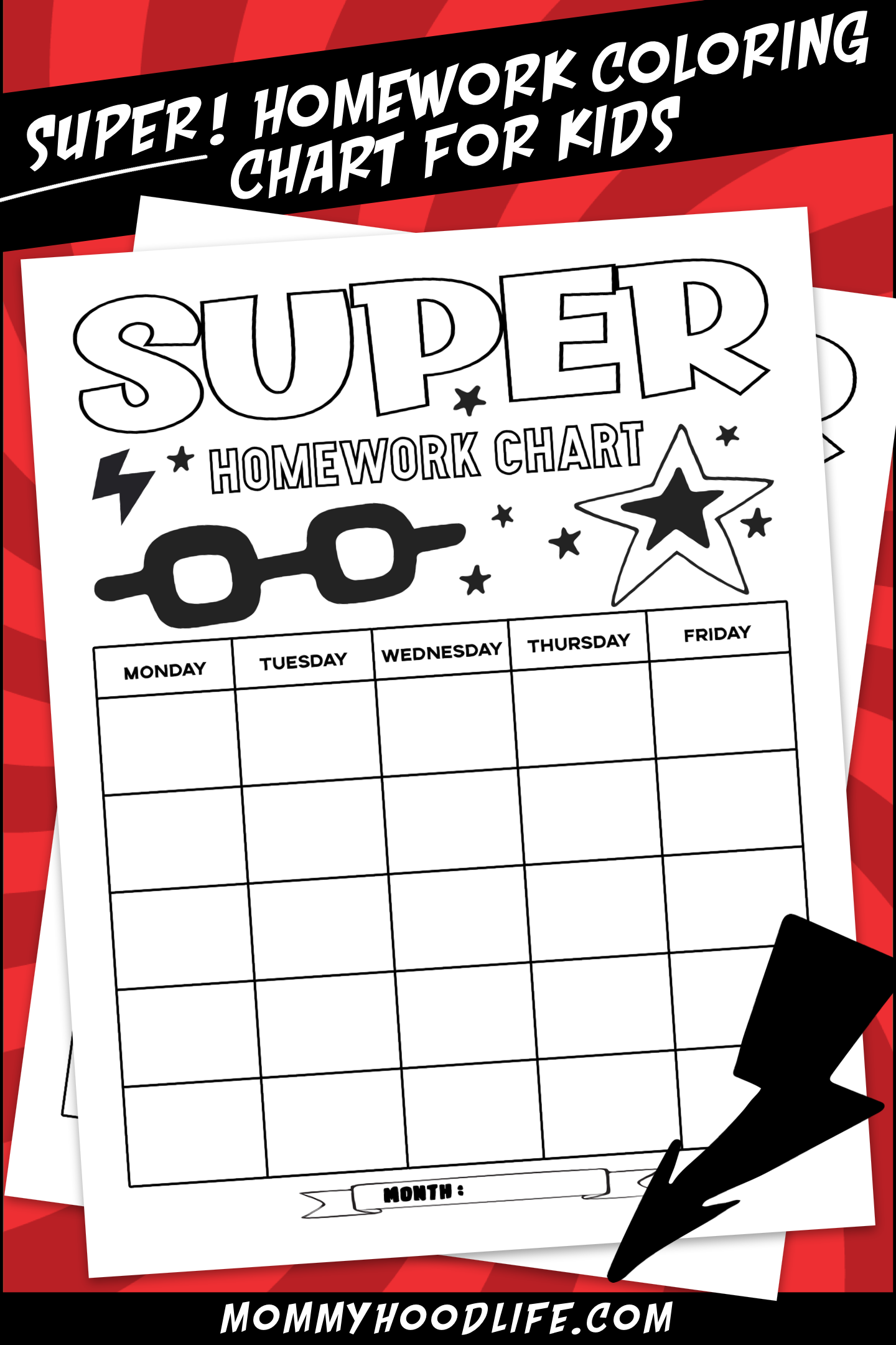 Homework Chart Free Printable