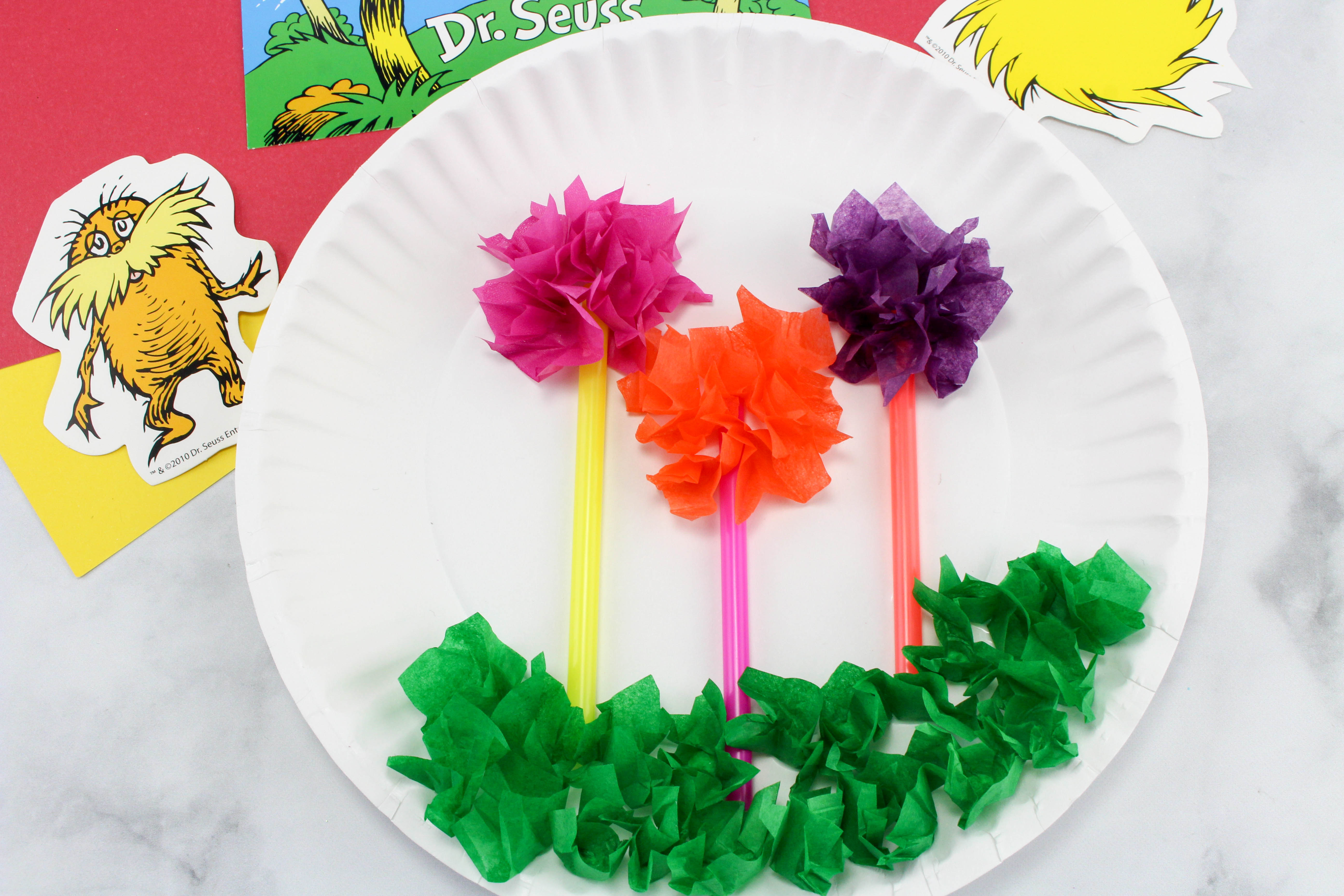 The Lorax Truffula Trees Craft
