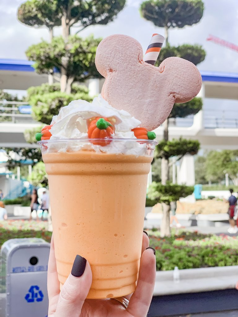 Pumpkin Spice Milkshake at Mickey's not so scary halloween party