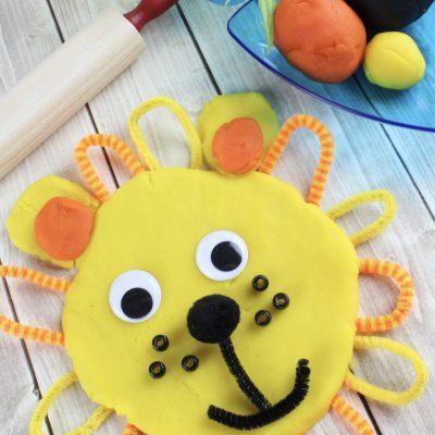 DIY Playdough Lion Activity