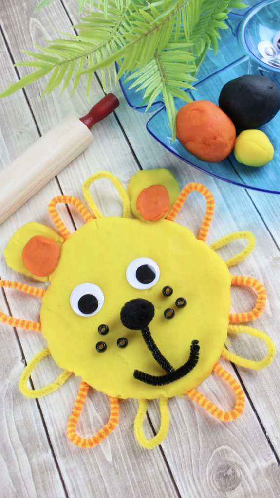 DIY Playdough Lion Activity