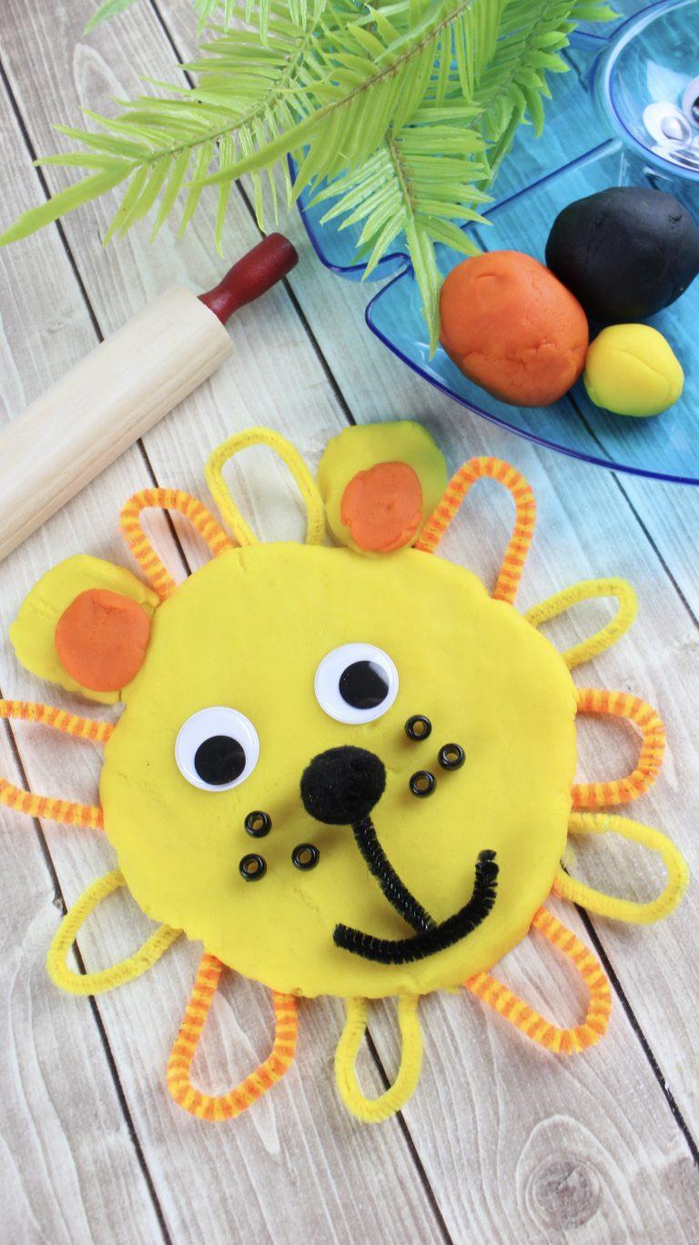Easy DIY Playdough and Lion Creation Fun