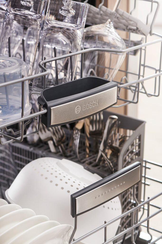 Inside of the Bosch 800 Series Dishwasher