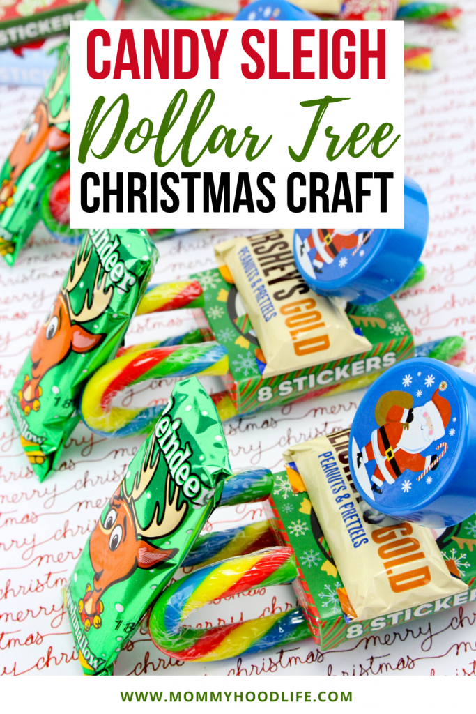 Candy Sleigh Dollar Tree Christmas Craft